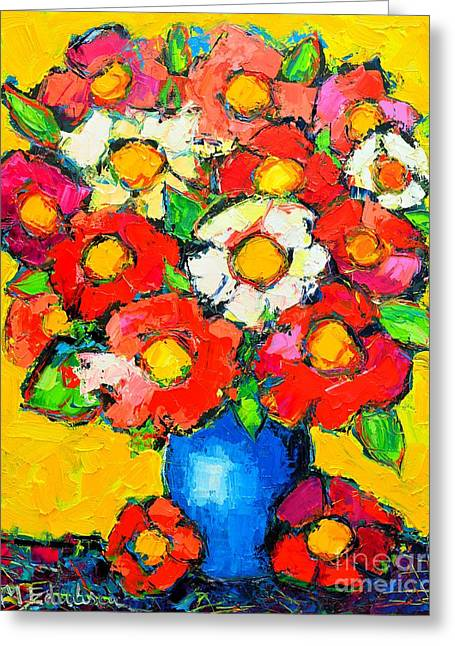 Colorful Wildflowers Greeting Card by Ana Maria Edulescu
