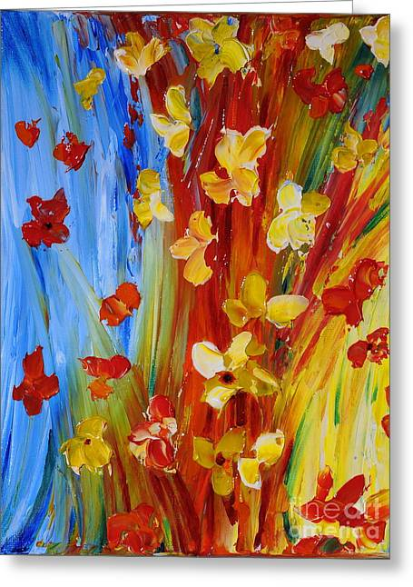 Colorful World Greeting Card by Teresa Wegrzyn