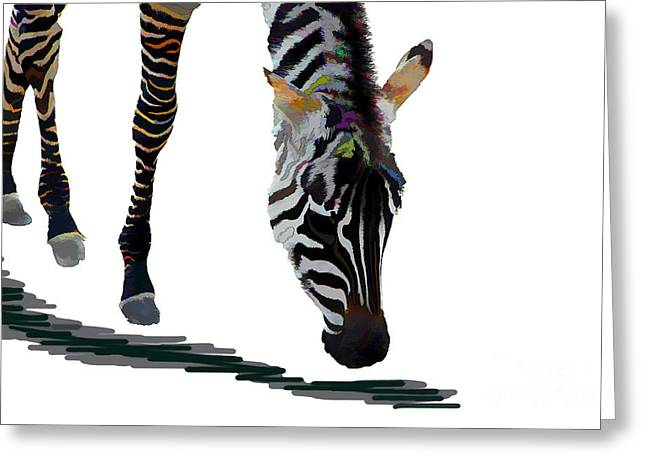 Colorful Zebra 2 Greeting Card by Teresa Zieba