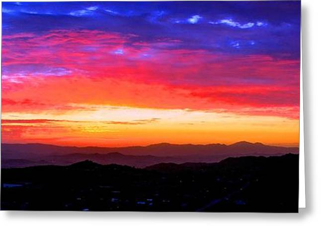 Colorific Sunset Greeting Card