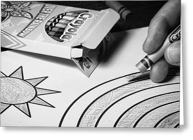 Coloring Without Color Greeting Card by Tom Gort