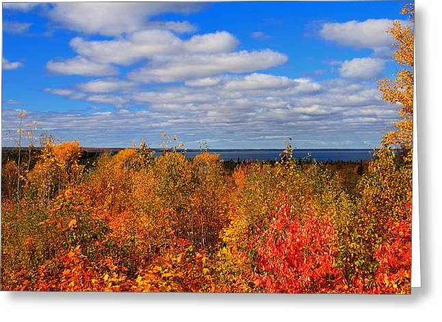 Colors Above Lake Superior Greeting Card