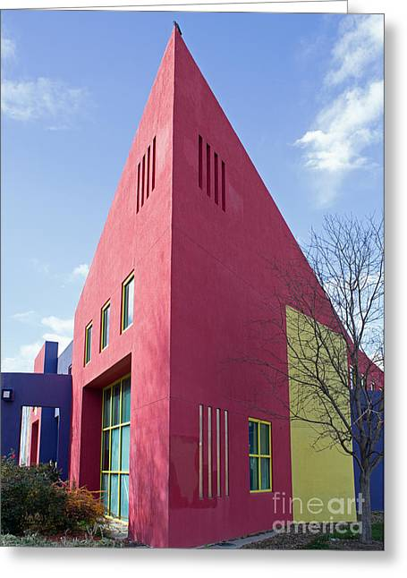 Colors And Angles Greeting Card by Steven Parker