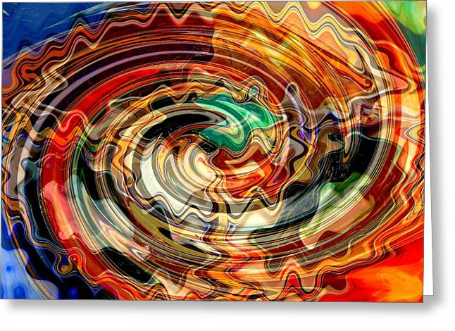Colors And Creativity Abstract Greeting Card by Carol Groenen