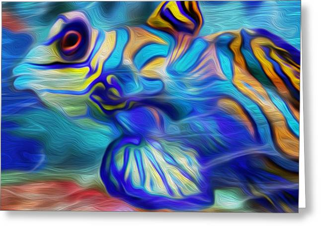 Colors Below Greeting Card by Jack Zulli