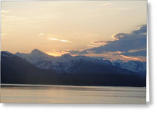 Colors Beyond The Sunset Greeting Card by Cindy Croal