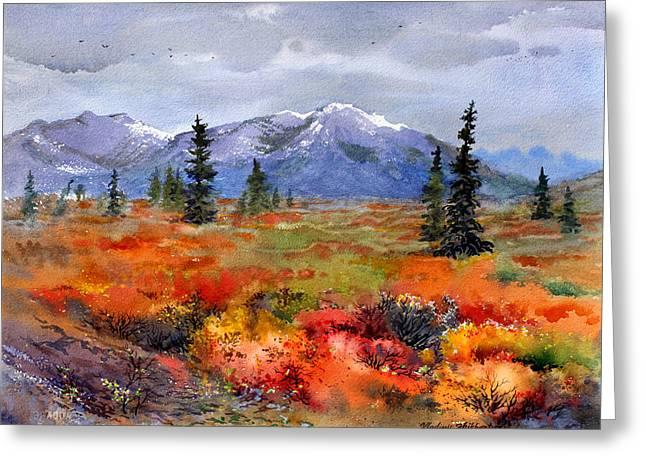 Colors In Denali Greeting Card by Vladimir Zhikhartsev