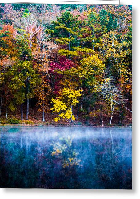 Colors In Early Morning Fog Greeting Card