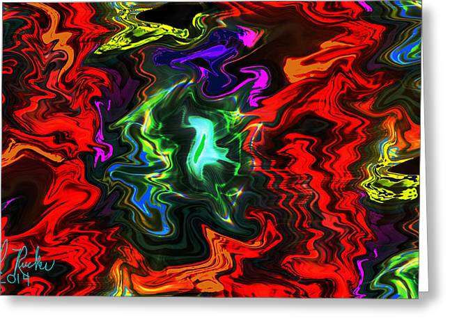 Colors In Motion Greeting Card by Michael Rucker