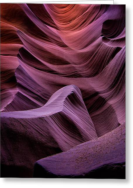 Colors Of Antelope Canyon Greeting Card