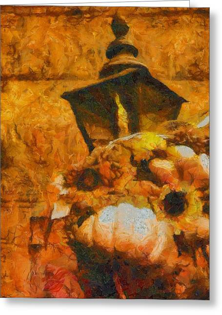 Colors Of Autumn Greeting Card by Dan Sproul