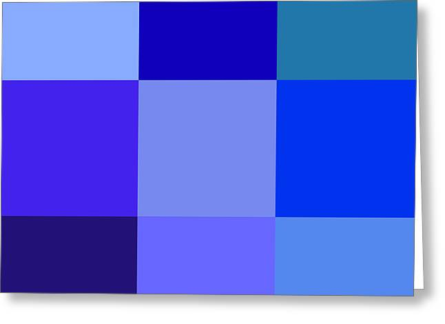 Colors Of Blue Greeting Card