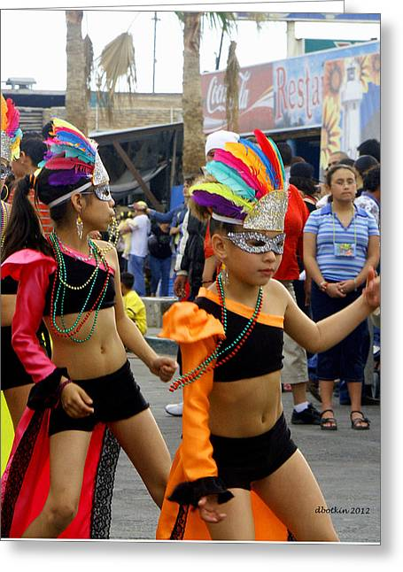 Colors Of Carnival Greeting Card by Dick Botkin
