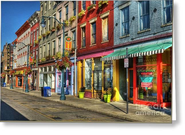 Colors Of Cincinnati Greeting Card by Mel Steinhauer