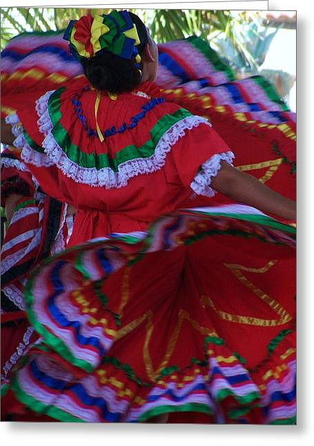 Colors Of Dance Greeting Card