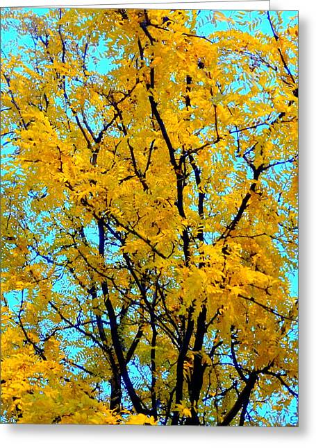 Colors Of Fall - Smatter Greeting Card by Deborah  Crew-Johnson