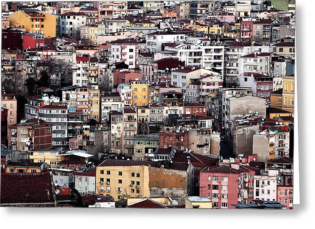 Colors Of Istanbul Greeting Card by John Rizzuto