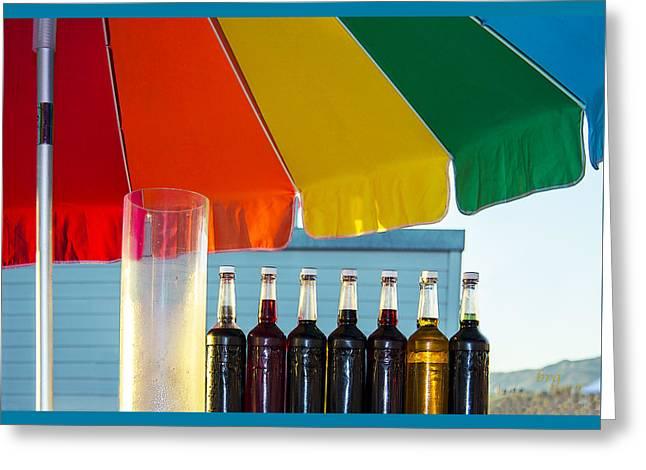 Colors Of Santa Monica Beach Greeting Card by Ben and Raisa Gertsberg