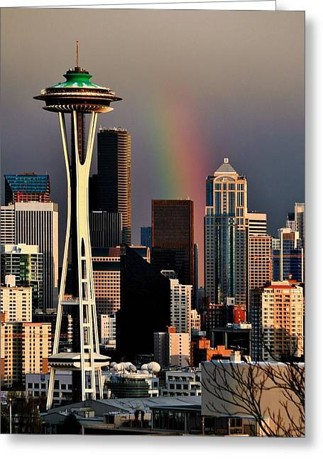 Colors Of Seattle Greeting Card by Benjamin Yeager