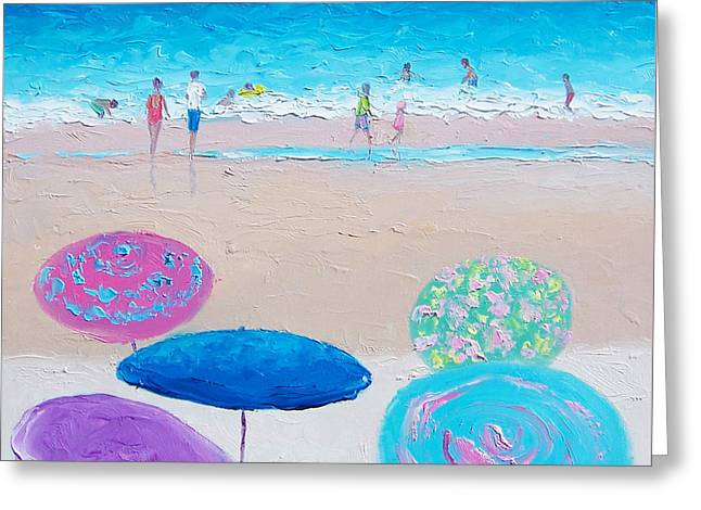 Colors Of Summer Beach Painting Greeting Card by Jan Matson