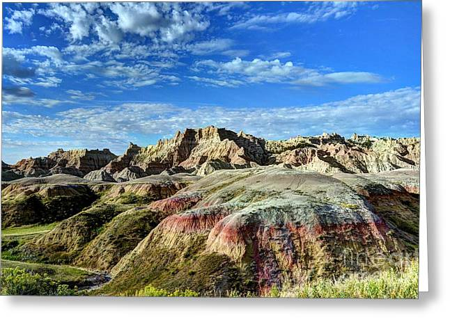 Colors Of The Badlands 2 Greeting Card by Mel Steinhauer