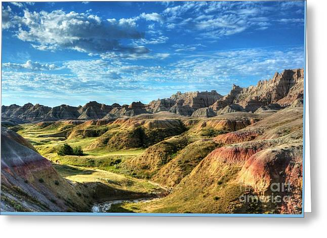 Colors Of The Badlands Greeting Card by Mel Steinhauer