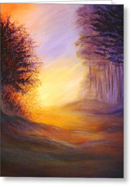 Greeting Card featuring the painting Colors Of The Morning Light by Lilia D