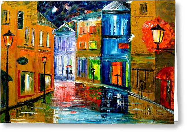Colors Of The Night Greeting Card by Mariana Stauffer