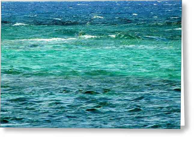 Colors Of The Sea  Greeting Card by Amar Sheow