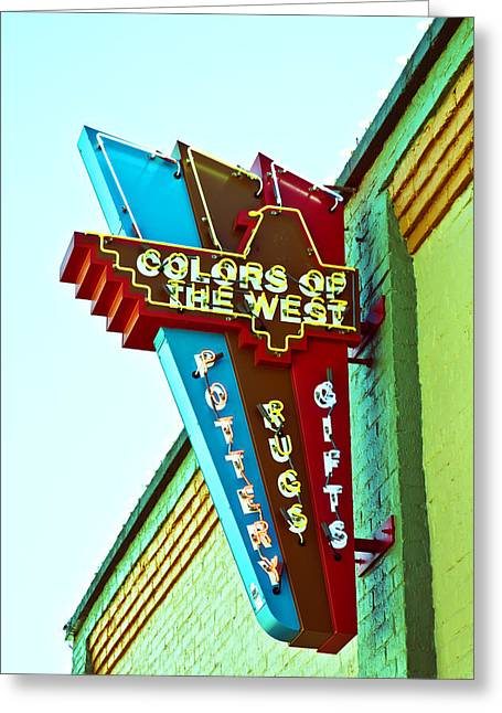 Colors Of The West Greeting Card