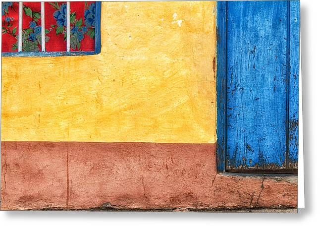 Colors Of Wall Greeting Card