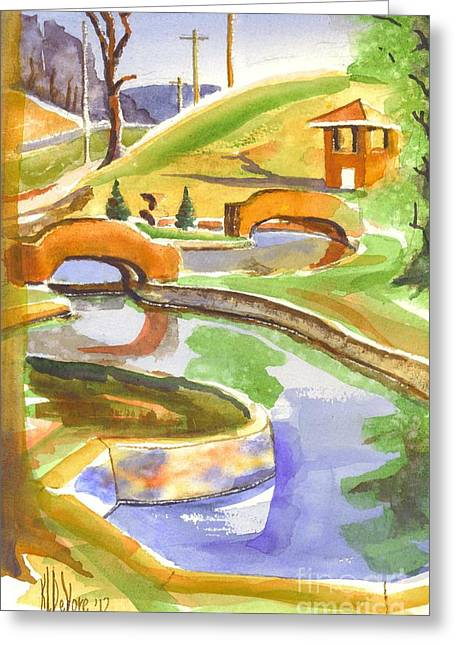Colors On A Cloudy Day II Greeting Card by Kip DeVore