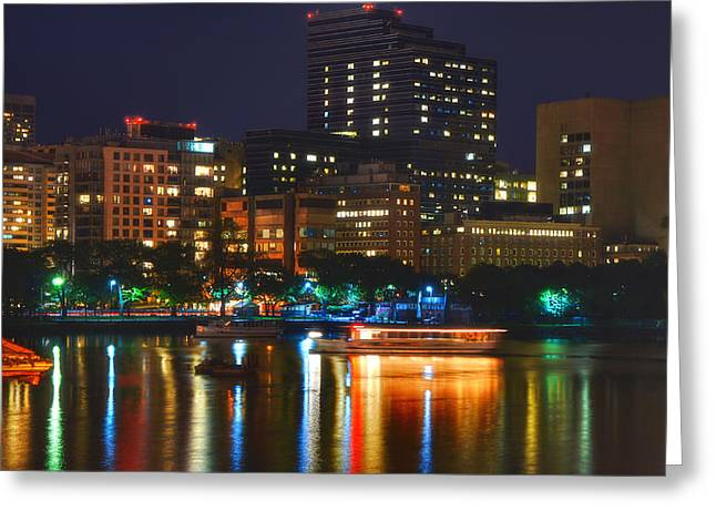 Colors On The Charles Greeting Card by Joann Vitali