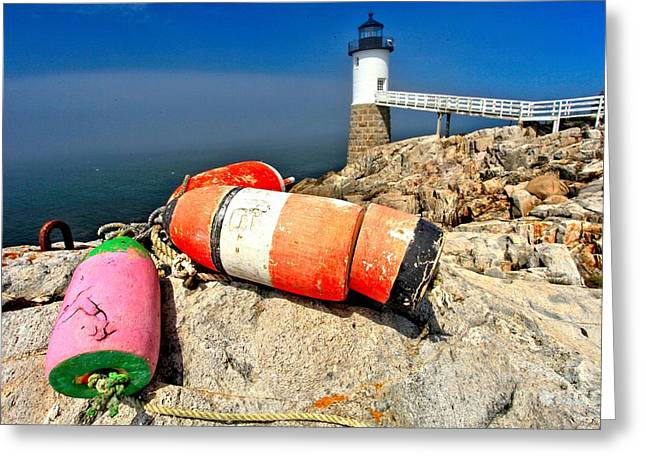 Colors On The Rocks Greeting Card by Adam Jewell