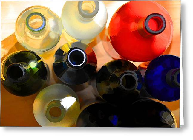 Colorsplash Greeting Card by Jan Amiss Photography
