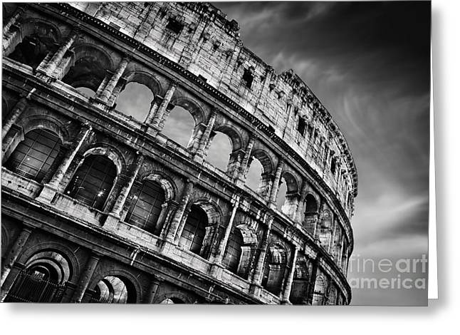 Colosseum Greeting Card by Rod McLean