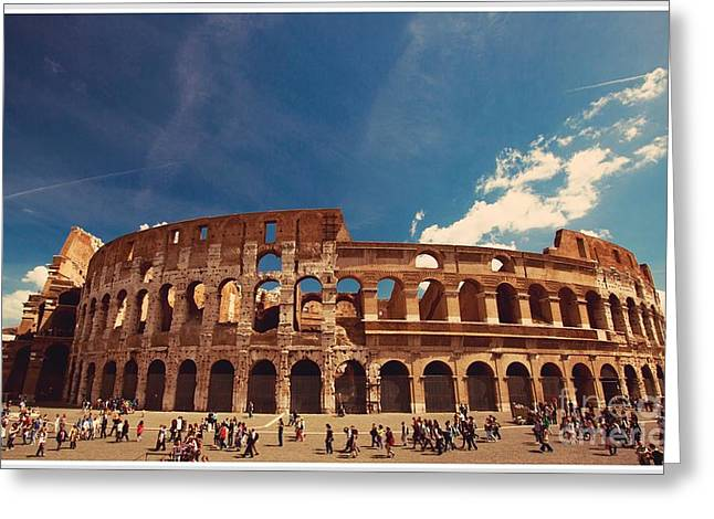 Colosseum Rome Greeting Card by Stefano Senise