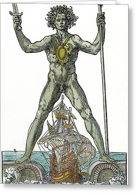 Colossus Solis Of Rhodes Greeting Card by Granger