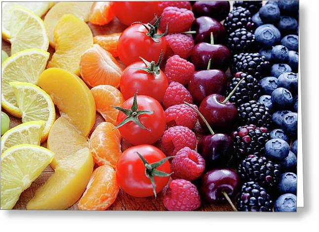 Colouful Selection Of Fruit Greeting Card