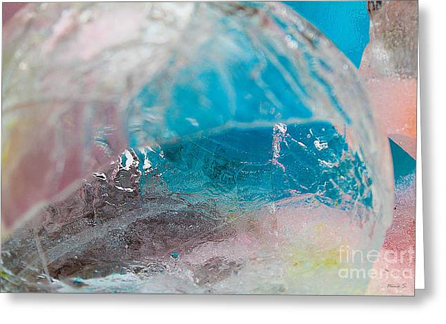 Coloured Ice Creation Print #4 Greeting Card
