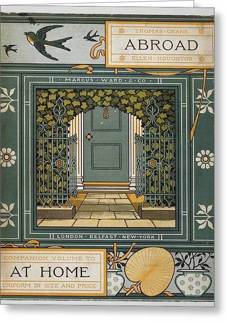 Coloured Illustration Showing A Door Greeting Card by British Library