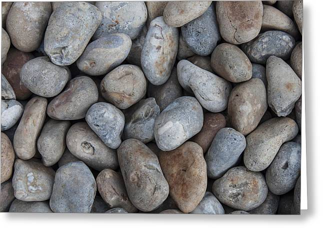 Coloured Pebbles Greeting Card by Stewart Scott