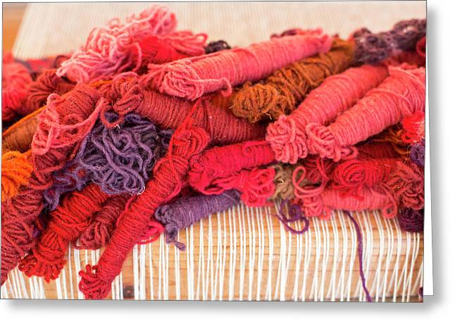 Coloured Yarn Greeting Card by Jim West