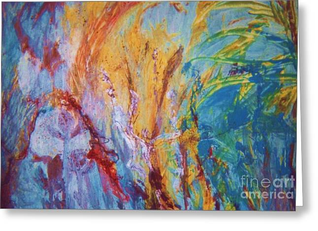 Colourful Abstract Greeting Card by Ann Fellows