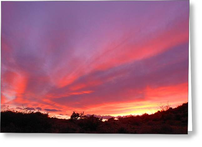 Colourful Arizona Sunset Greeting Card