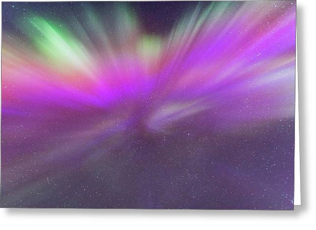 Colourful Auroral Corona March 6, 2016 Greeting Card by Alan Dyer