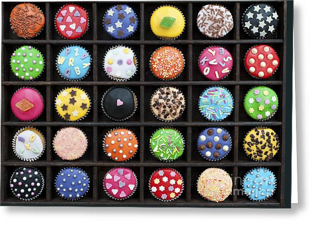 Colourful Cupcakes  Greeting Card by Tim Gainey