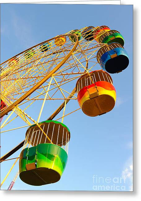 Colourful Ferris Wheel Greeting Card