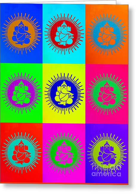 Colourful Ganesha Greeting Card