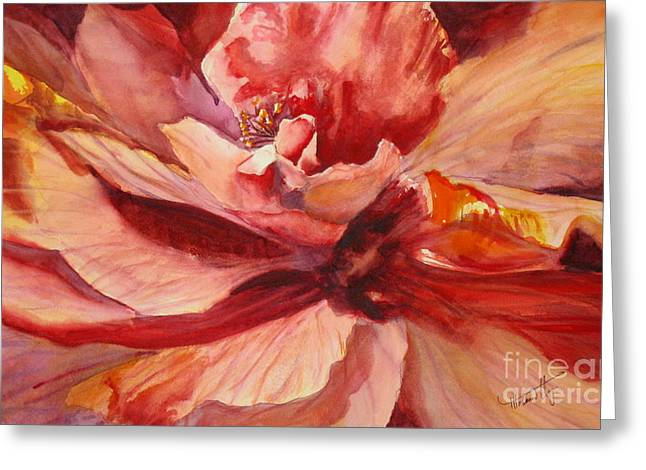 Colourful Hibiscus Greeting Card by Mohamed Hirji